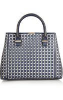 Victoria Beckham Quincy Lasercut Leather Tote - Lyst