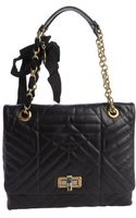 Lanvin Quilted Calfskin Leather Medium Happy Shoulder Bag - Lyst