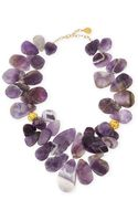 Devon Leigh Amethyst Teardrop Cluster Necklace - Lyst