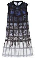 Tibi Lace Plaid Ombre Dress - Lyst