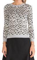 Diane Von Furstenberg Jacquard Sweater - Lyst