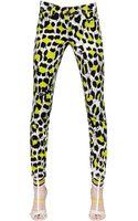 Just Cavalli Leopard Printed Cotton Drill Jeans - Lyst