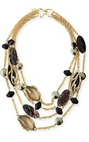 Alexis Bittar Crystal Lace Multi-chain Necklace - Lyst