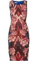Oscar de la Renta Silk and Woolblend Jacquard Dress - Lyst