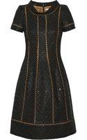 Oscar de la Renta Embellished Doublefaced Woolblend Dress - Lyst