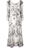 Gianfranco Ferre Vintage Printed Silk Maxi Dress - Lyst