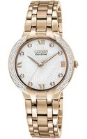 Citizen Ladies Bella Goldtone Diamond Watch - Lyst