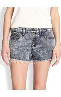 Rag & Bone Acidwash Cutoff Denim Shorts - Lyst