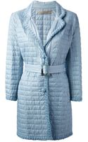 Ermanno Scervino Quilted Single Breasted Coat - Lyst