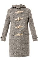 Saint Laurent Tweed Duffle Coat - Lyst