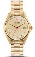 Kate Spade Gold Seaport Bracelet Watch 38mm - Lyst