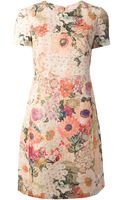 Tory Burch Floral Print Dress - Lyst