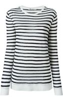 T By Alexander Wang Striped Sweater - Lyst