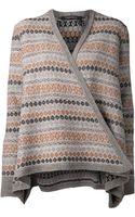 Thakoon Blanket Stripe Cardigan - Lyst