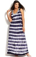 Inc International Concepts Plus Size Embellished Tiedye Maxi Dress - Lyst