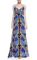 Mara Hoffman Pyramid-print V-neck Maxi Dress - Lyst