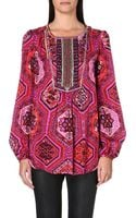 Emilio Pucci Embroidered Silk Blouse - Lyst