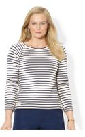 Lauren by Ralph Lauren Plus Striped Balletneck Top - Lyst