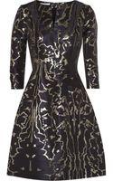 Oscar de la Renta Metallic Jacquard Dress - Lyst