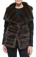 Oscar de la Renta Sable Lamb Fur Jacket - Lyst