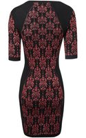 Jane Norman Knitted Bodycon Dress - Lyst