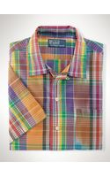 Polo Ralph Lauren Custom-fit Madras Camp Shirt - Lyst