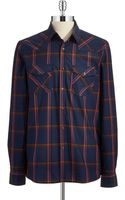 Kenneth Cole Plaid Sport Shirt - Lyst
