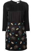 Victoria, Victoria Beckham Insects Embroidered Dress - Lyst
