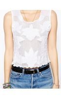 Mink Pink My Dream Applique Mesh Top - Lyst