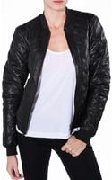 Lot78 Quilted Bomber Leather Jacket - Lyst