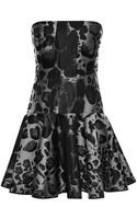 Giambattista Valli Leopard Jacquard Mini Dress - Lyst