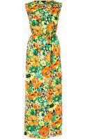 River Island Orange Floral Print Sleeveless Maxi Dress - Lyst