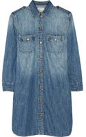 Current/Elliott The Perfect Denim Shirt Dress - Lyst