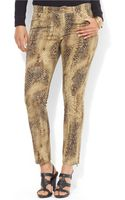 Lauren by Ralph Lauren Plus Python Modern Skinny Jeans - Lyst