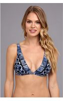 Michael by Michael Kors Batik Ring Border Print Underband Bra Top - Lyst