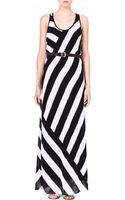 MICHAEL Michael Kors Striped Maxi Dress - Lyst