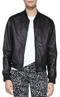 Rag & Bone Leather Zipfront Jacket - Lyst