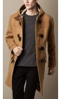 Burberry Oversize Wool Duffle Coat - Lyst