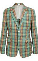 Comme Des Garçons Contrasting Tartan Jacket - Lyst