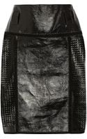 Proenza Schouler Perforated Glossed-leather Skirt - Lyst