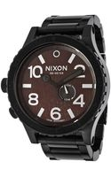 Nixon Mens 5130 Tide Black Ip Steel Brown Dial - Lyst