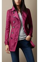 Burberry Gathered Waist Trench Coat - Lyst