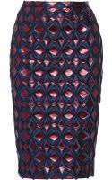 Burberry Prorsum Metallic Brocade Pencil Skirt - Lyst