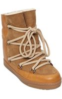 Isabel Marant 70mm Nowles Suede Shearling Boots - Lyst