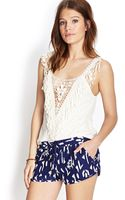 Forever 21 Fringed Crotchet Top - Lyst