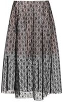 Stella McCartney Grazia Lace and Silkorganza Midi Skirt - Lyst