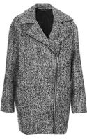 Topshop Womens Textured Wool Ovoid Jacket Grey - Lyst