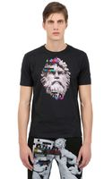 Frankie Morello Slim Fit Printed Cotton Jersey Tshirt - Lyst