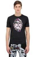Frankie Morello Slim Fit Printed Cotton Jersey Tshirt - Lyst