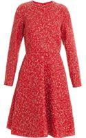 Giambattista Valli Red with Metallic Dress - Lyst